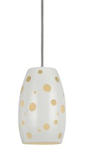 "CAL Lighting UP-1103/6-BS - 9.5"" Tall Metal Pendant In White Finish"