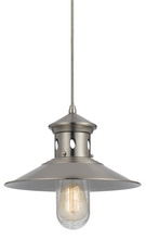 "CAL Lighting UP-1115-6-DB - 10.63"" Tall Metal Pendant In Brushed Steel"