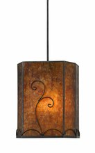 CAL Lighting UP-3549/6-BK - 120V, 60W MICA PENDANT W/CANOP