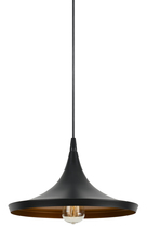 "CAL Lighting UP-3631-1P - 7"" Tall Metal Pendant in Satin Black"