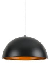 "CAL Lighting UP-3634-1P - 9"" Tall Metal Pendant In Satin Black"