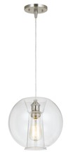 "CAL Lighting UP-925/6-BS - 9.5"" Height Glass Pendant In Glass Finish"