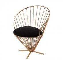Dimond 985-001 - Iron Taper Wire Chair In Gold And Black