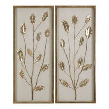 Uttermost 04123 - Uttermost Branching Out Gold Leaf Panels Set/2