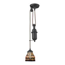 ELK Lighting 081-TB-10 - Mix-N-Match 1 Light Pulldown Pendant In Classic