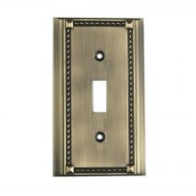 ELK Lighting 2501AB - Clickplates Single Switch Plate In Antique Brass