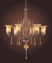 ELK Lighting 3577/6 - 6 Light Chandelier In Argento Bronze And Ambe