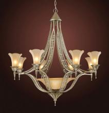 ELK Lighting 3828/8+1 - 9 Light Chandelier Wtih Embedded Crystal