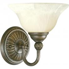 Progress P3204-86 - One Light Burnished Chestnut Antique Alabaster Glass Bathroom Sconce