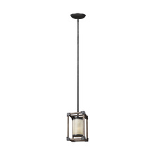 Generation Lighting - Seagull 6113301BLE-846 - Fluorescent Dunning One Light Mini-Pendant in Stardust with Creme Parchment Glass