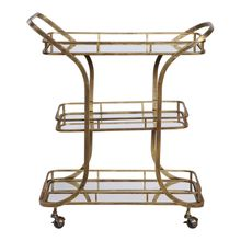Uttermost 24876 - Uttermost Stassi Gold Serving Cart