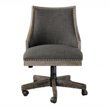 Uttermost 23431 - Uttermost Aidrian Charcoal Desk Chair