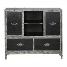 Uttermost 25305 - Uttermost Shawn Black Leather Accent Chest